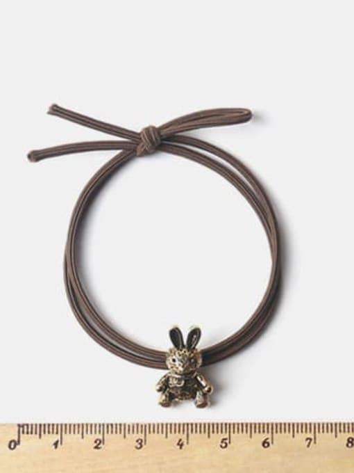 JoChic Alloy Cute   Bear Rabbit  Spiral Cattle Hair Rope