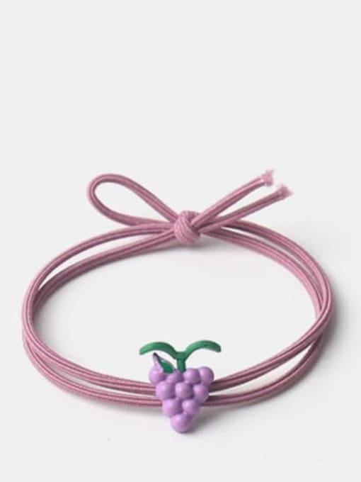 Long grass grape Alloy Enamel Cute Long grass Cartoon Bear Multi Color Hair Rope