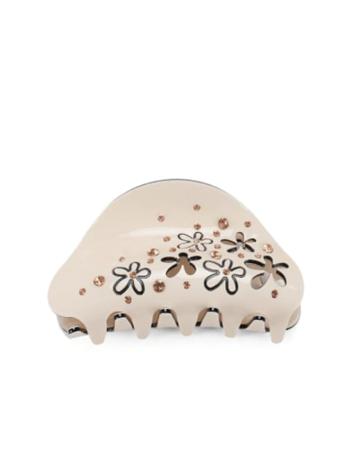 Champagne Acrylic Minimalist Geometric Alloy Rhinestone Multi Color Jaw Hair Claw