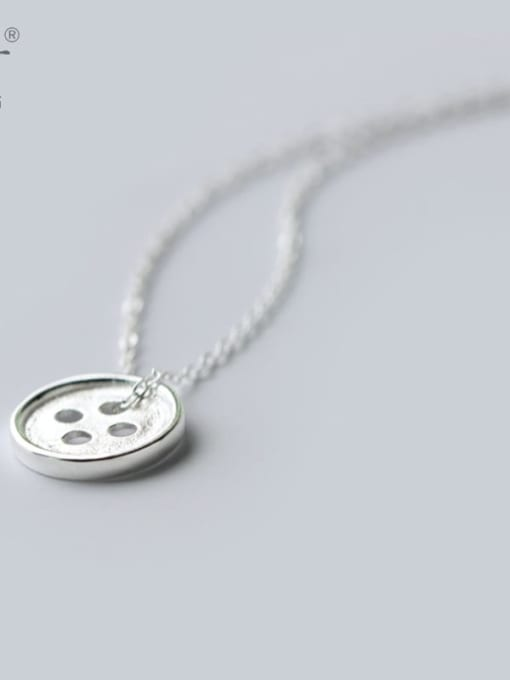 Rosh 925 Sterling Silver Silver Round Minimalist Necklace
