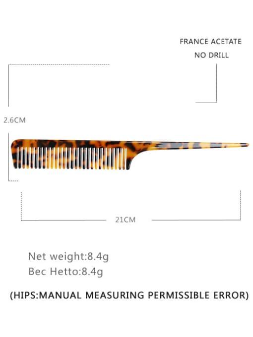 Deep hawksbill Cellulose Acetate Minimalist Multi Color Hair Comb
