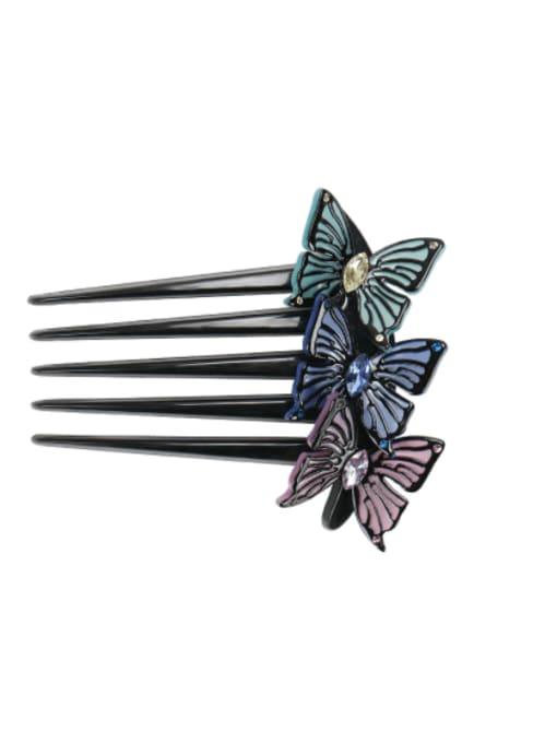 BUENA Alloy Rhinestone Cellulose Acetate Minimalist Butterfly 1