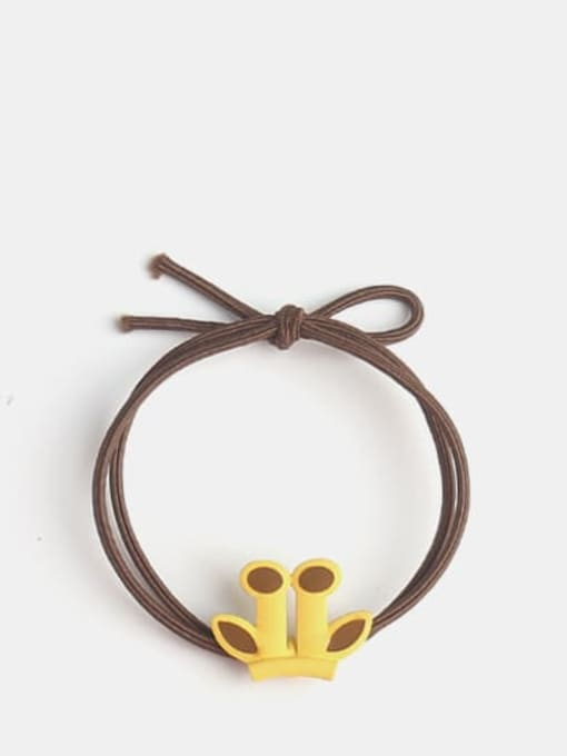 Antler Brown rope Cute Cartoon animal  Hair Rope
