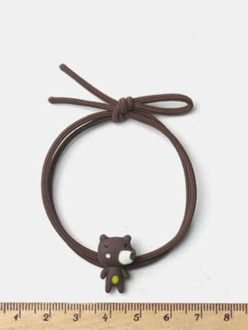 JoChic Alloy Enamel Cute Bear  Hair Rope 1