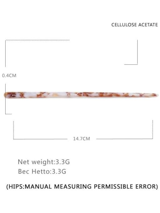 Brownish white Cellulose Acetate Minimalist Multi Color Hair Stick