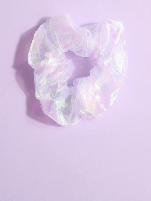 white Minimalist Yarn Hair Barrette