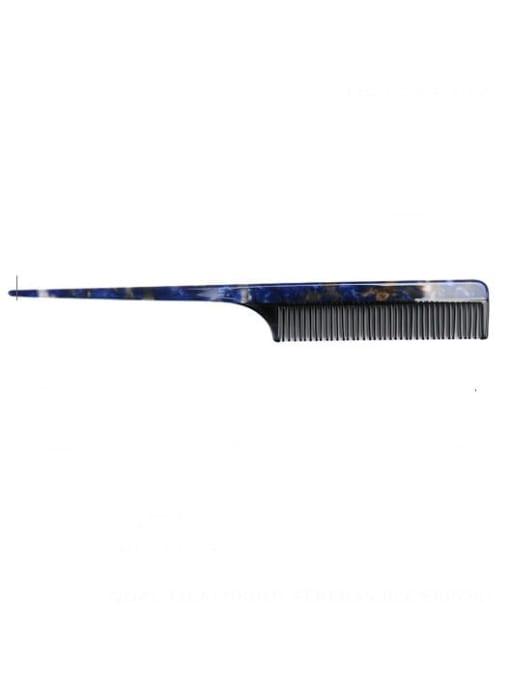navy blue Cellulose Acetate Minimalist Geometric Multi Color Hair Comb