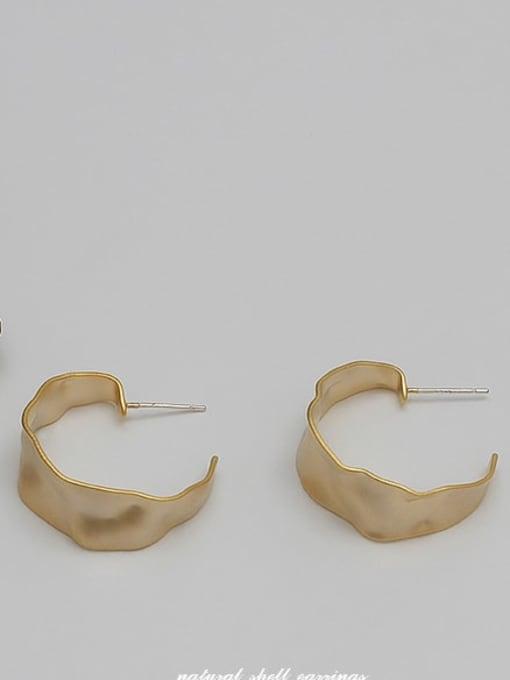Sargin Copper Alloy Gold Geometric Minimalist Hoop Earring