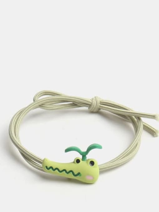 Long grass crocodile Alloy Enamel Cute Long grass Cartoon Bear Multi Color Hair Rope