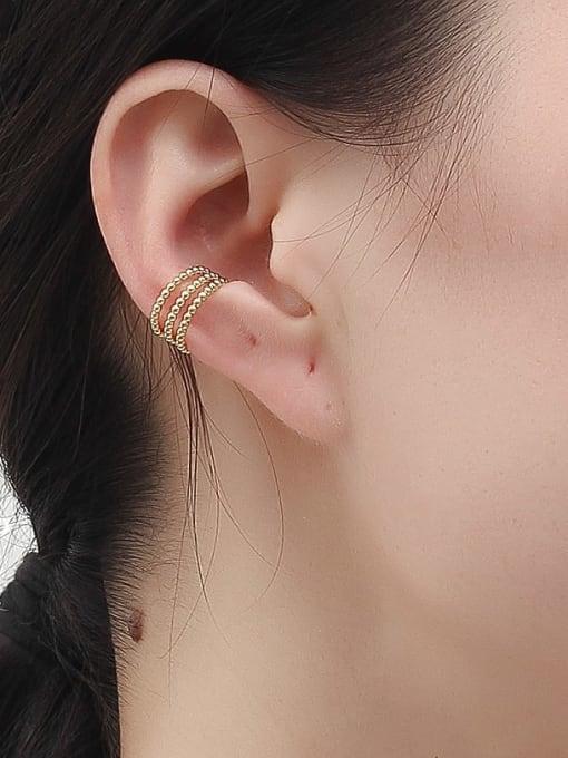 HYACINTH Copper Alloy Minimalist Clip Earring 1