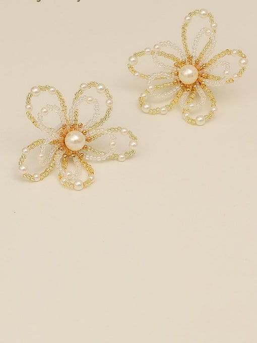 HYACINTH Copper Alloy Flower Dainty Earring 1
