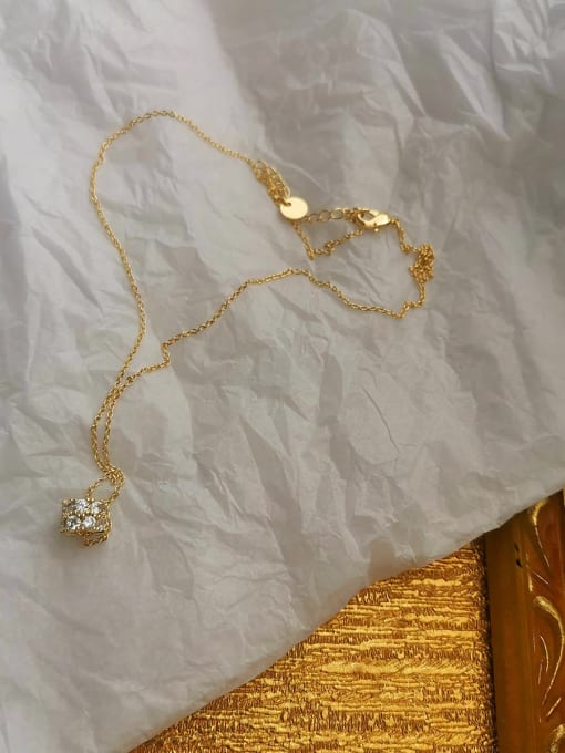 14k Gold Plating Copper Alloy Locket Dainty Necklace