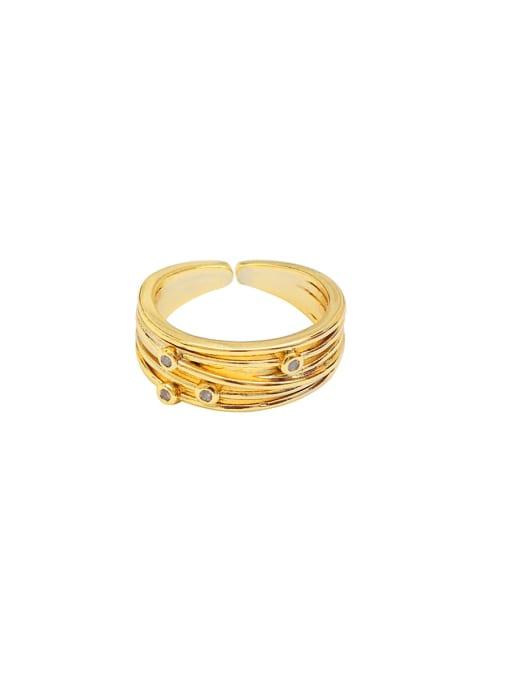 HYACINTH Copper Alloy Geometric Dainty Ring 4