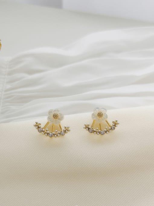 HYACINTH Copper Alloy Flower Earring