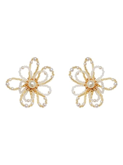 HYACINTH Copper Alloy Flower Dainty Earring 4