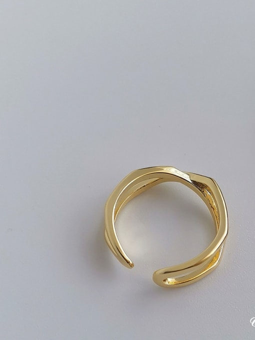 HYACINTH Copper Alloy Geometric Minimalist Ring 3