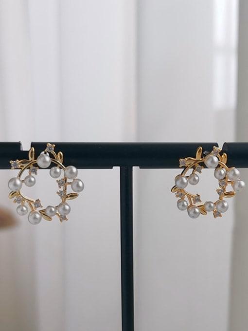 HYACINTH Copper Alloy Geometric Dainty Earring 2