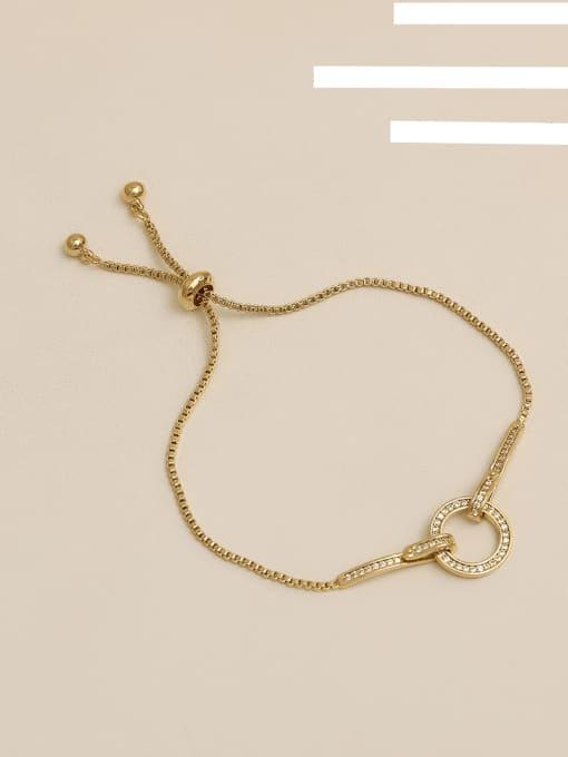 Gold plating Copper Alloy Round Dainty Adjustable Bracelet