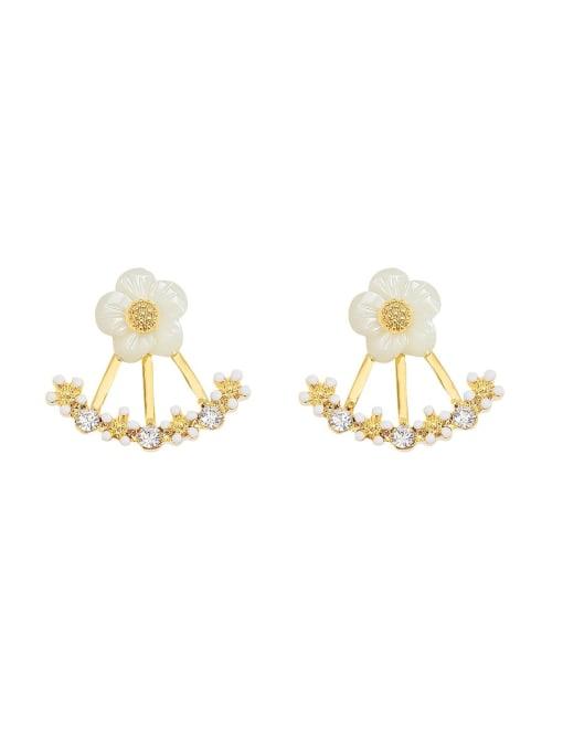 HYACINTH Copper Alloy Flower Earring 3