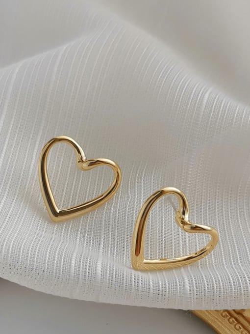 HYACINTH Copper Alloy Heart Earring