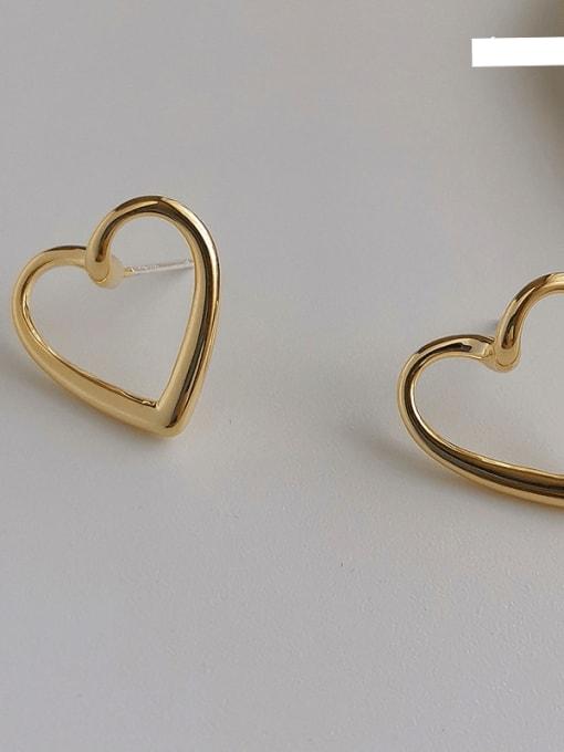 14K copper plating Copper Alloy Heart Earring