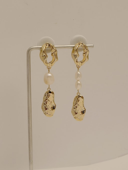 HYACINTH Copper Alloy Freshwater Pearl Earring 1