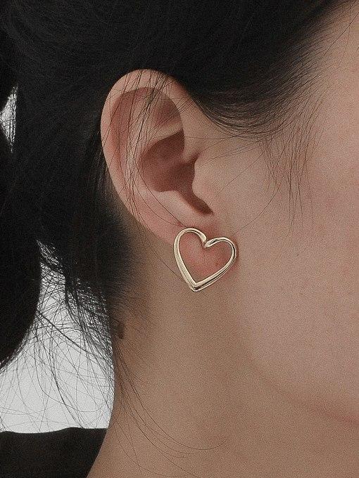 HYACINTH Copper Alloy Heart Earring 1