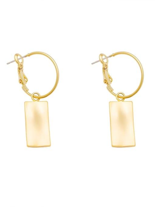 HYACINTH Copper Alloy Gold Geometric Trend Earring 4