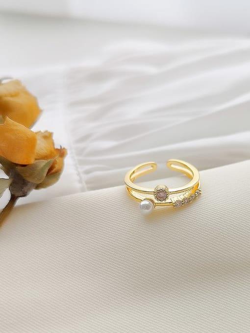 HYACINTH Copper Alloy Geometric Dainty Ring