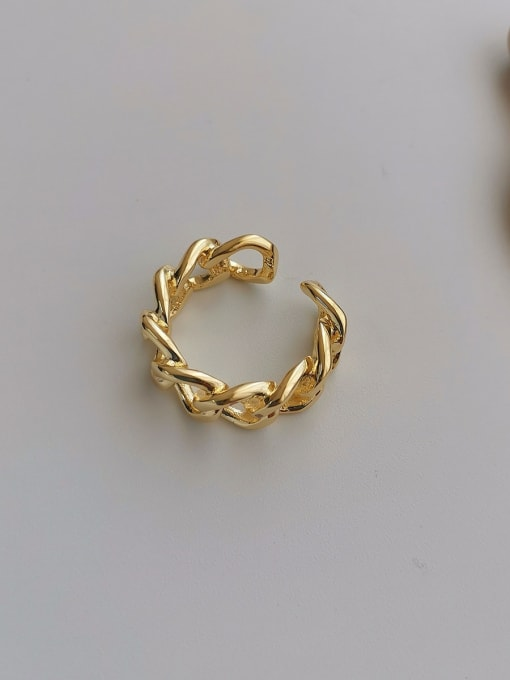 14k Gold Plating Copper Alloy Geometric Dainty Ring