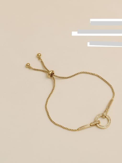 HYACINTH Copper Alloy Round Dainty Adjustable Bracelet