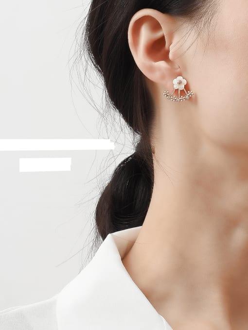 HYACINTH Copper Alloy Flower Earring 1