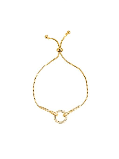 HYACINTH Copper Alloy Round Dainty Adjustable Bracelet 2
