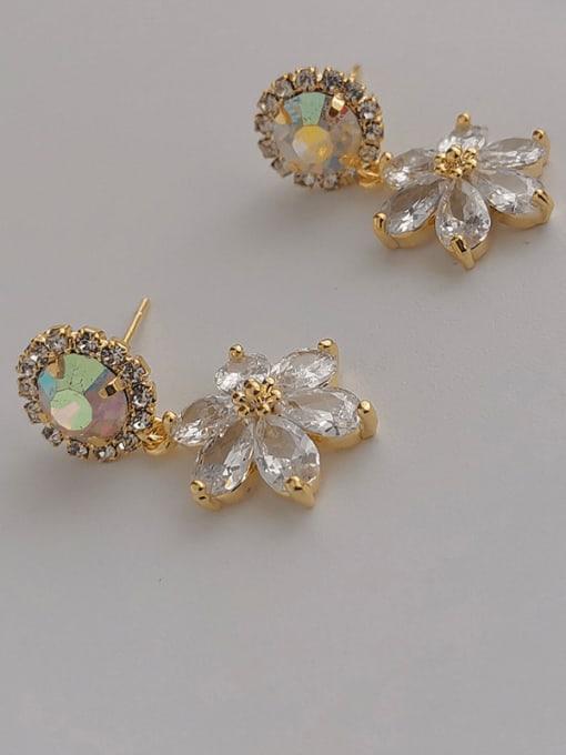 14k Gold Plating Copper Alloy Geometric Earring