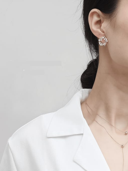 HYACINTH Copper Alloy Geometric Dainty Earring 1