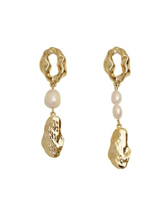 HYACINTH Copper Alloy Freshwater Pearl Earring 3