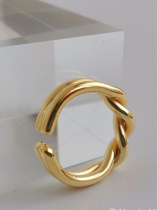 HYACINTH Copper Alloy Geometric Dainty Ring 2