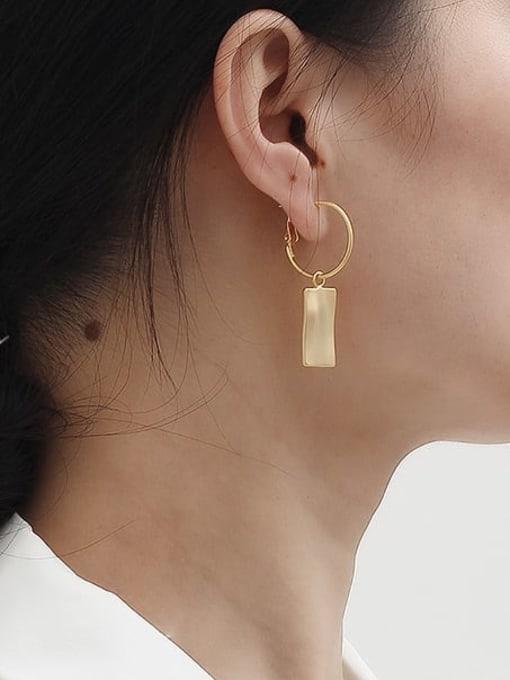 HYACINTH Copper Alloy Gold Geometric Trend Earring 2