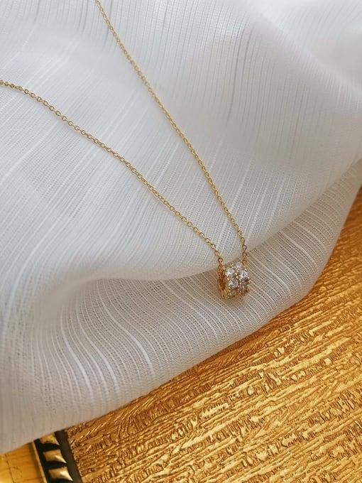 HYACINTH Copper Alloy Locket Dainty Necklace