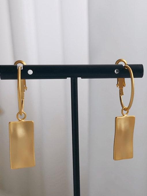 HYACINTH Copper Alloy Gold Geometric Trend Earring 3