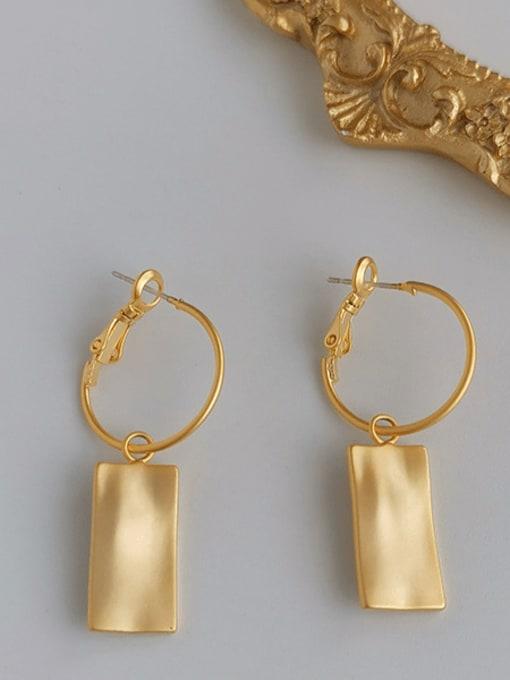 HYACINTH Copper Alloy Gold Geometric Trend Earring
