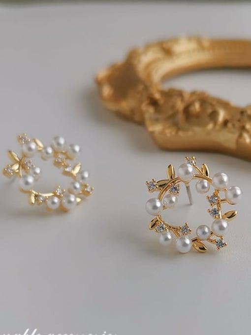 14k Gold Plating Copper Alloy Geometric Dainty Earring