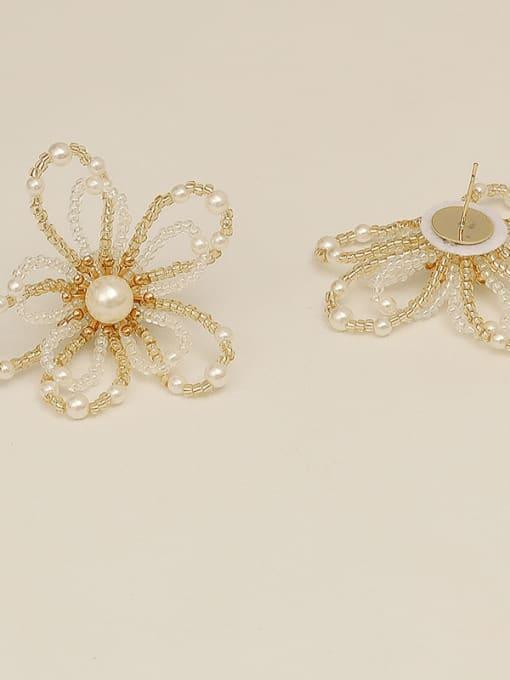 HYACINTH Copper Alloy Flower Dainty Earring 2