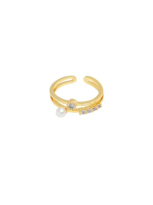 HYACINTH Copper Alloy Geometric Dainty Ring 3