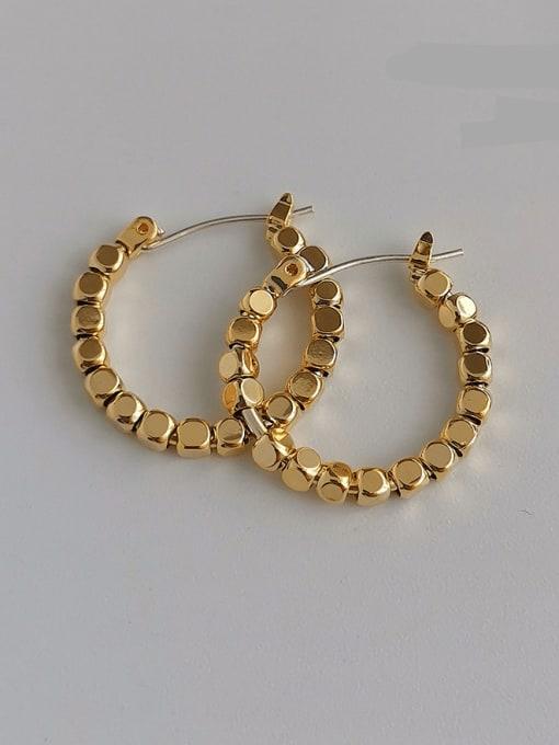 14K copper plating Copper Alloy Geometric Earring