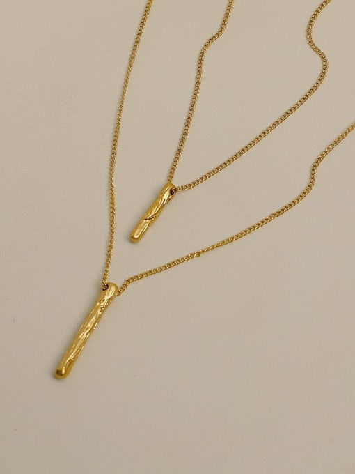 Nostalgic gold Copper Alloy Geometric Multi Strand Necklace