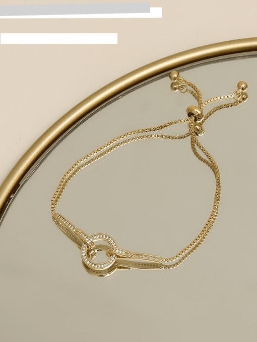 HYACINTH Copper Alloy Round Dainty Adjustable Bracelet 1