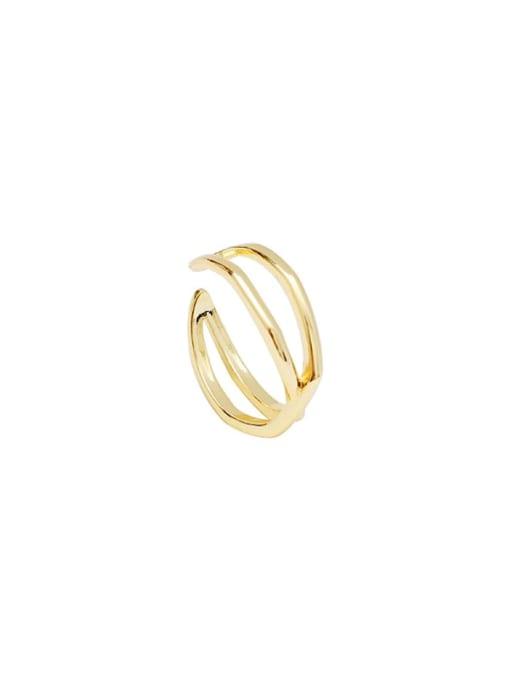 HYACINTH Copper Alloy Geometric Minimalist Ring 4