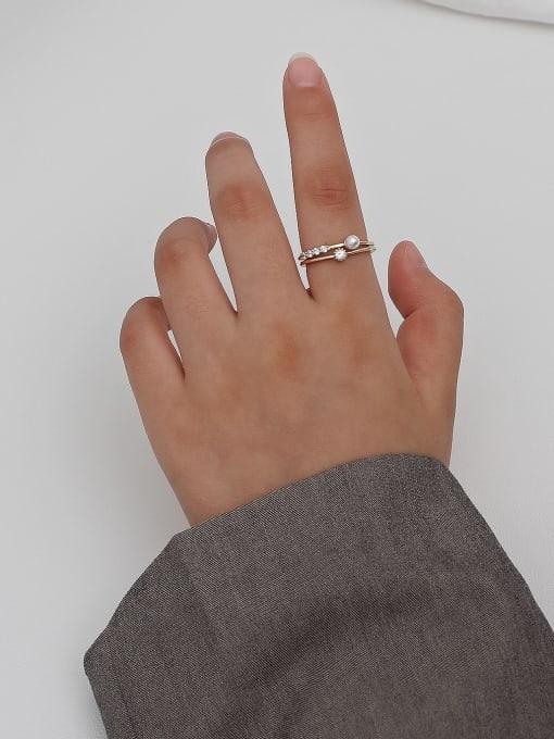 HYACINTH Copper Alloy Geometric Dainty Ring 1