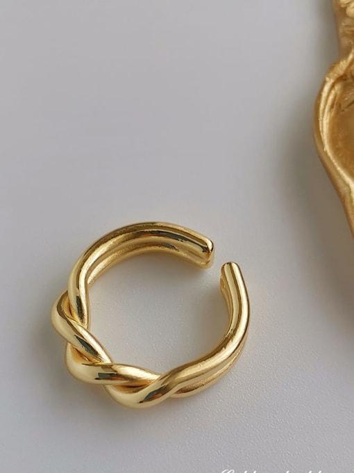 HYACINTH Copper Alloy Geometric Dainty Ring 0